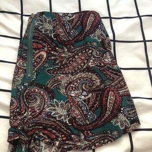 LF Shorts - LF Paisley Soft Zip Up Shorts